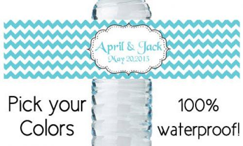 Waterproof Water Bottle Labels