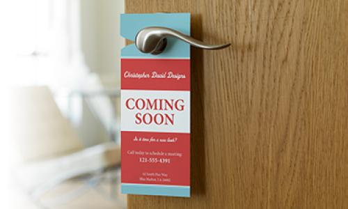 door Hanger Card