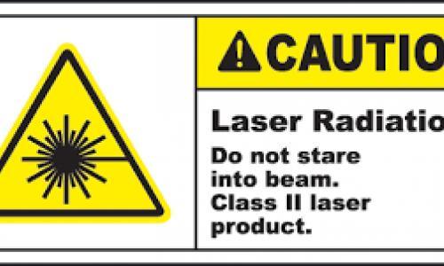 Laser Radiation Warning Label