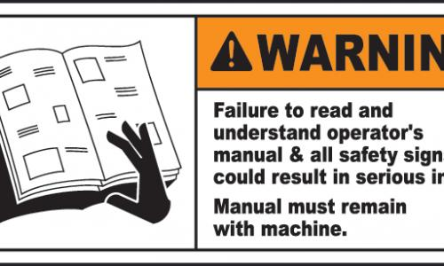 Machinery Safety Signs Labels