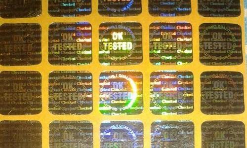 Ok tested hologram labels
