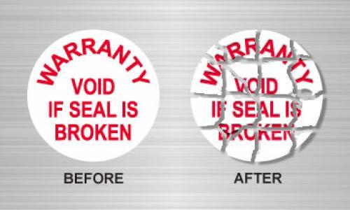 Warranty Void Seal Labels