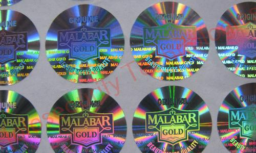Instant hologram labels